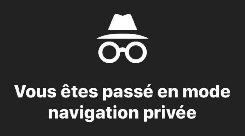 onglet de navigation privée internet
